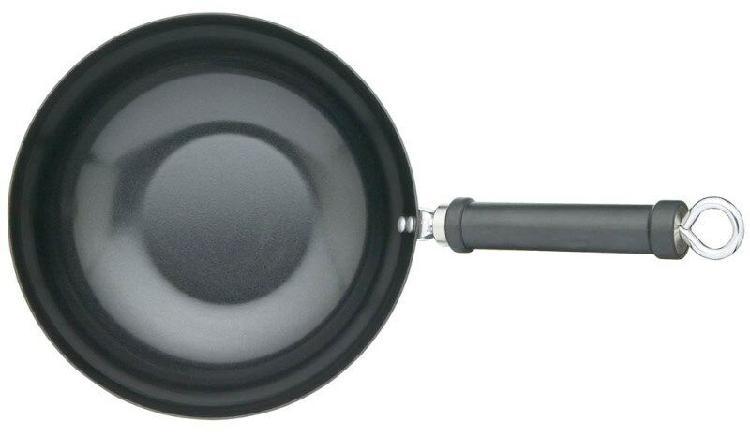 Oriental carbon steel n/stick wok - 26.5cm