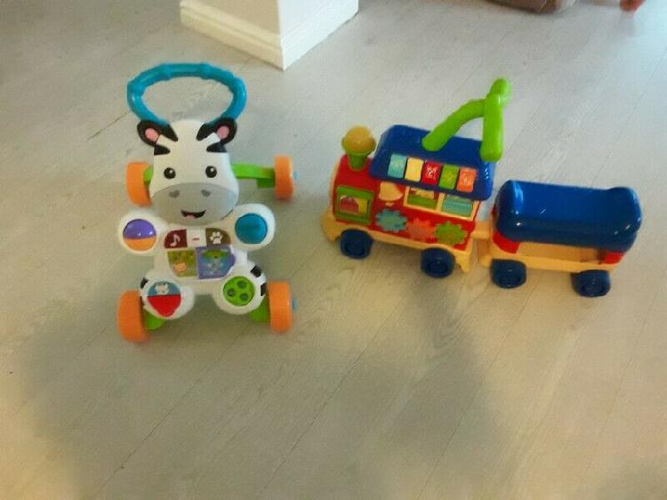 Childrens fisher price ride along and walker