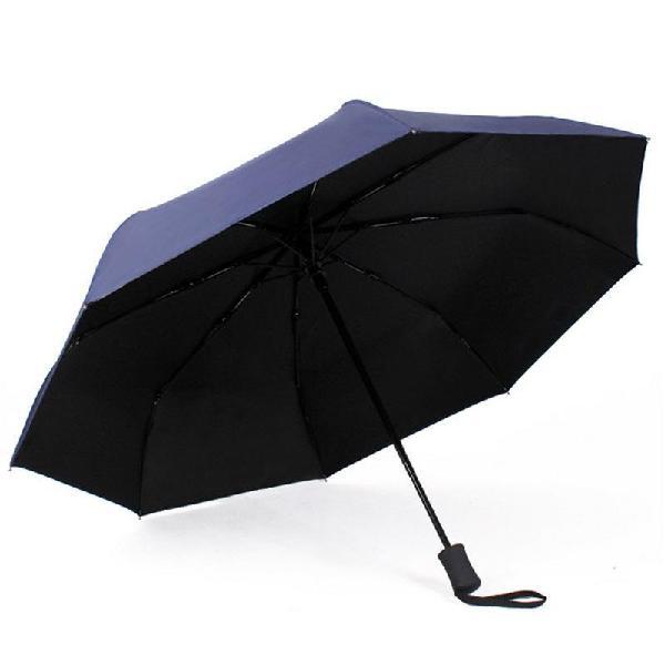 1pc fully automatic black rubber umbrella folding male
