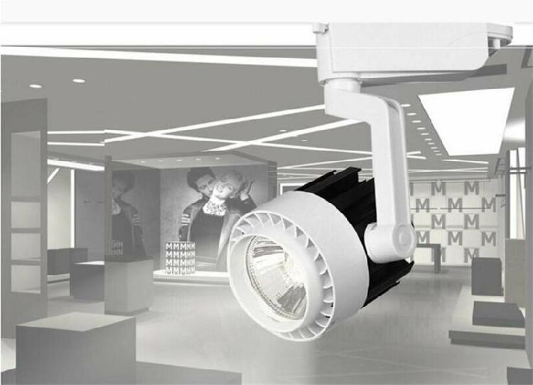 30w led track light aluminum ceiling rail track lighting cob