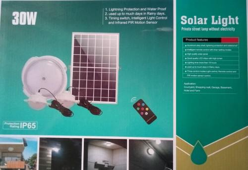 30w solar lighting kit...ideal for camping or saving