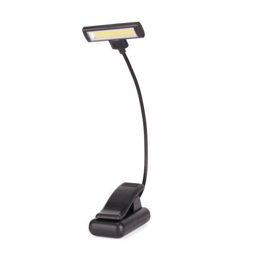 Black cob night clip clamp reading light