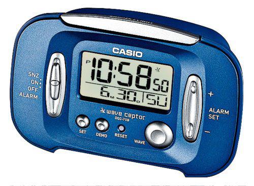 Casio wake up timer dqd-70b-2ef alarm clock radion