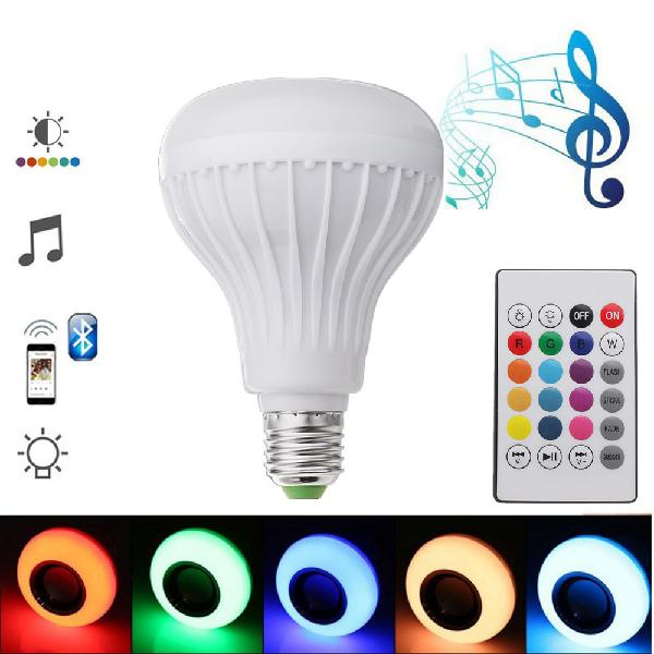 E27 12w emergency rechargeable colorful led light bulb