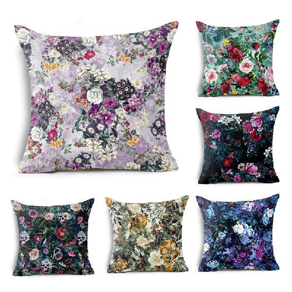 Honana bx 45x45cm home decoration colorful flowers plants 6