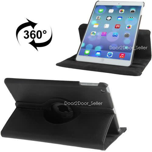 """10.2"""" ipad 7 (2019) case swivel rotating leather cover in"""