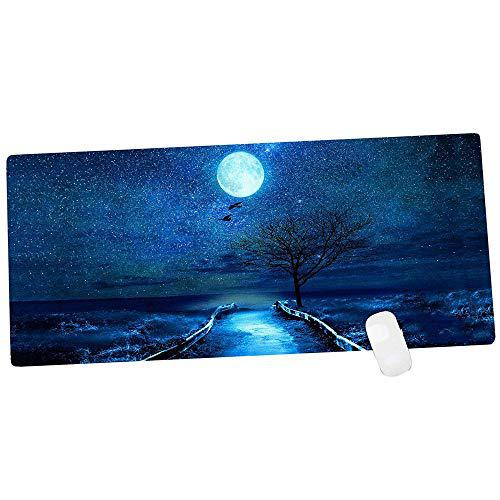 Aurorboy gaming mouse pad non-skid large size 900x400mm moon