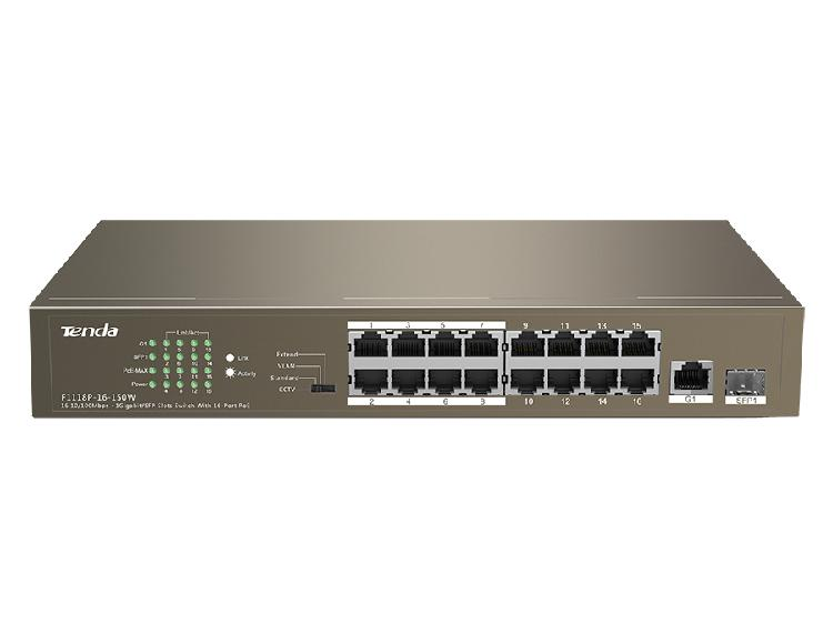 Tenda 16 port ethernet switch with 16 port poe |