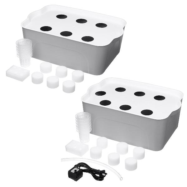 6/7 holes plant site hydroponic grow kit bubble indoor