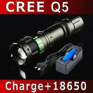 800lm led flashlight rechargeable torch with clip and zoom