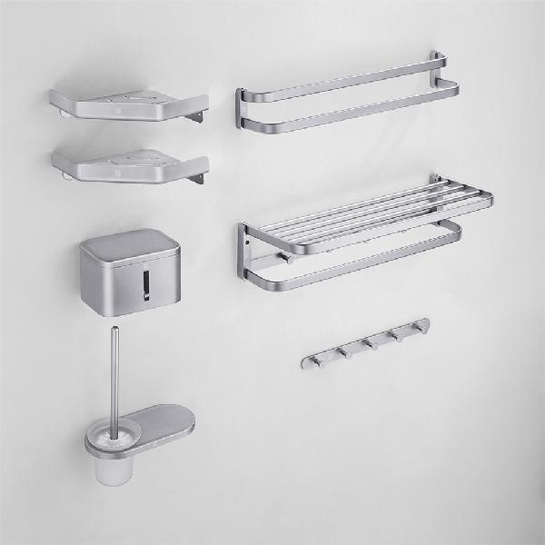 Diiib aluminum alloy bathroom hardware set towel rack bar
