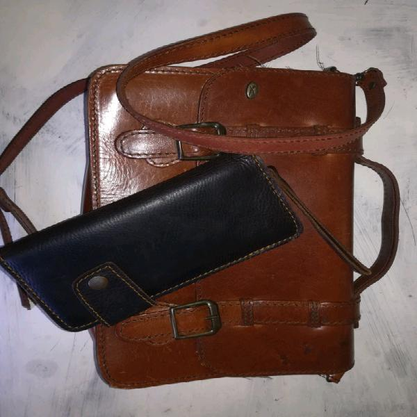 Leather bag and purse