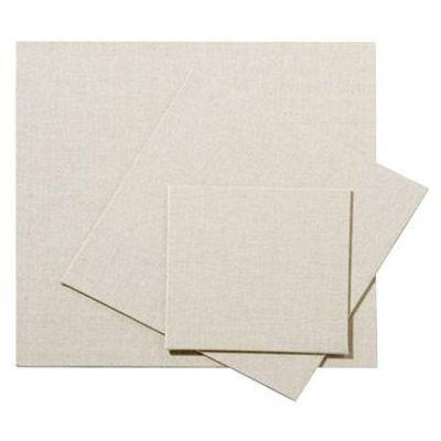 Pebeo natural linen canvas board - clear primed (20 x 20cm)
