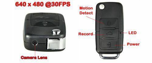 S 818 - fob spy camera video motion detection key chain