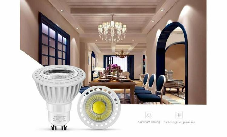 Gu10, mr16, 220v 12v 3w cob led spot light lamp bulb ultra