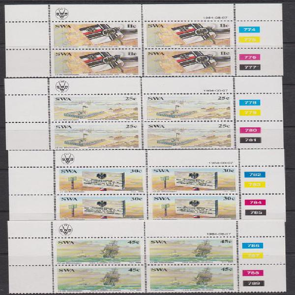 Namibia SWA1984 - Complete Set Of 4 Control Blocks Of 4