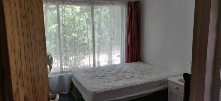 Furnished room available in spacious house in quiet suburb