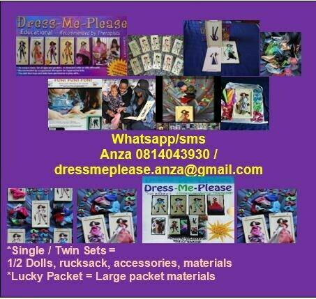 Dress-me-please dolls!recommended by therapists, teachers