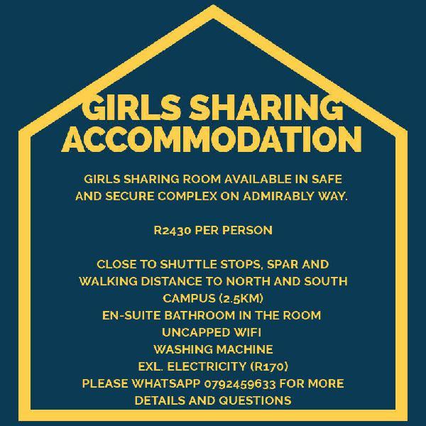 Girls sharing accommodation