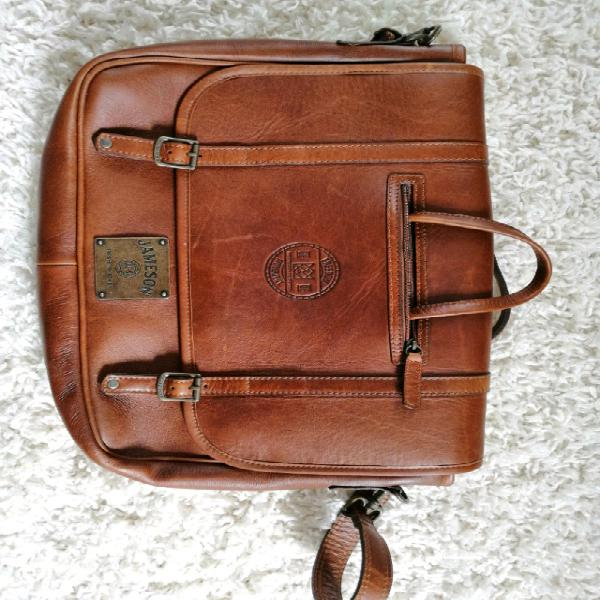 Luxury leather jameson laptop bag