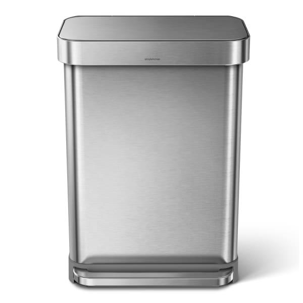 Simplehuman pedal bin with liner pocket, 55l