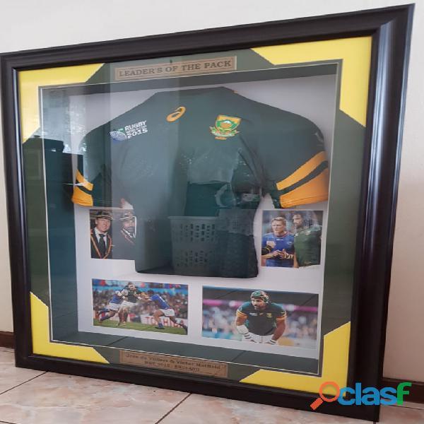 Framed rwc 2015 england jersey