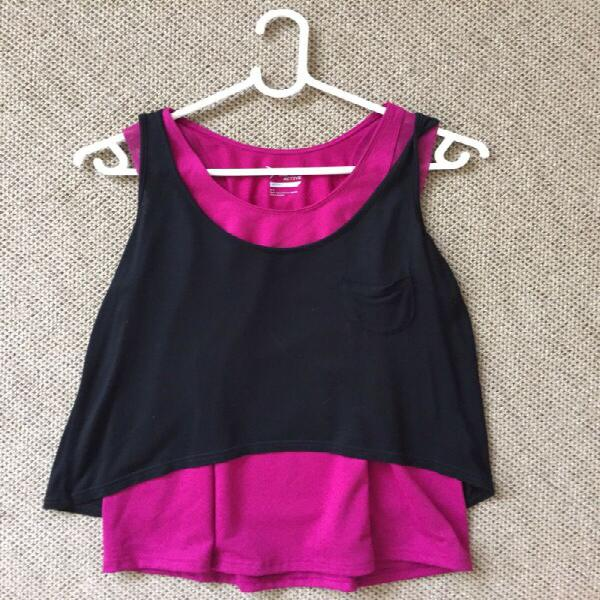 2 gym vests - ladies size 32