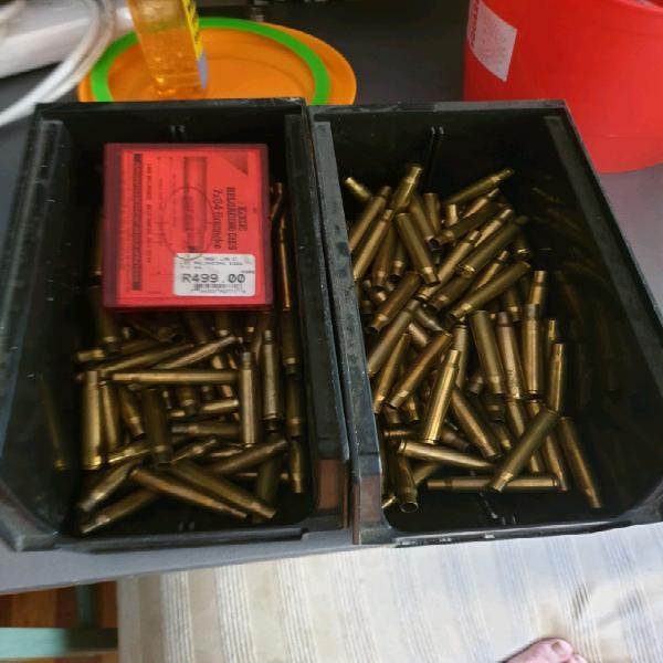 7x64 Brenneke Brass cases