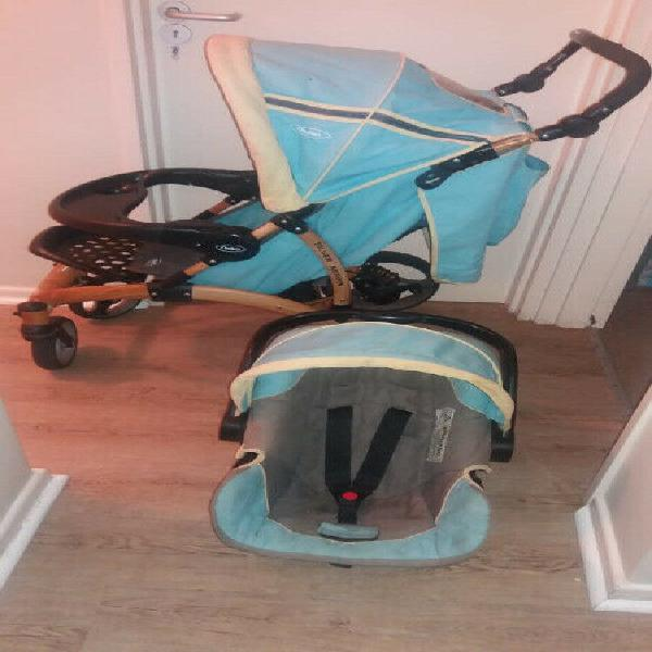 Chelino Silver Arrow Pram and car seat combo