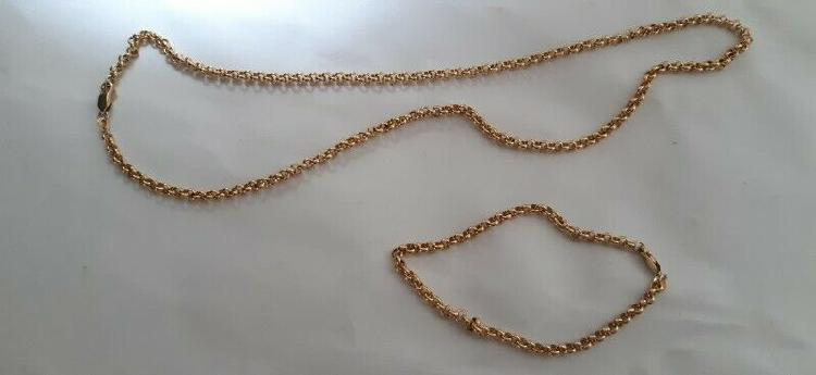 9k gold chain and bracelet