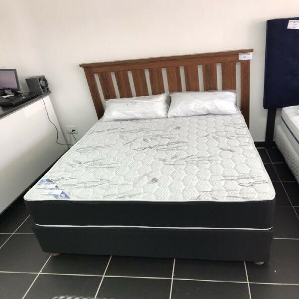 Brand new posture double bed with free headboard