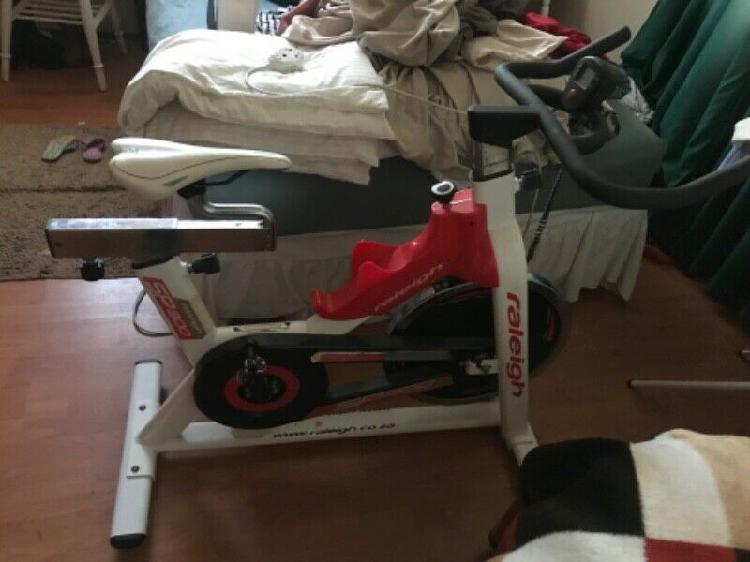 Trojan treadmill and raleigh spinning bike combo