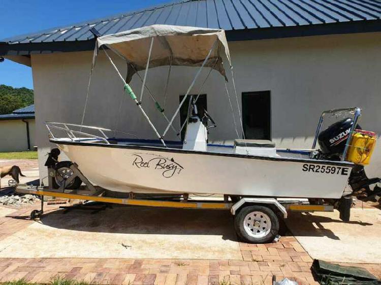Boat for sale: 14ft skeevee, 60 cc suzuki 4 stroke motor
