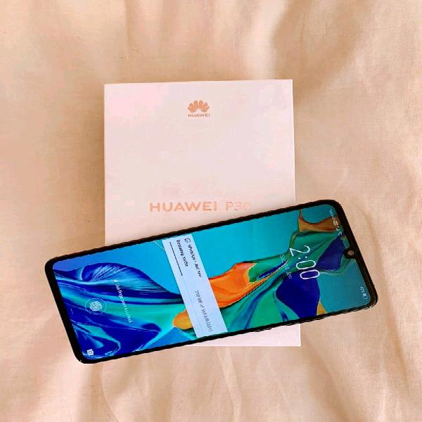 Huawei p30 blue with box for sale