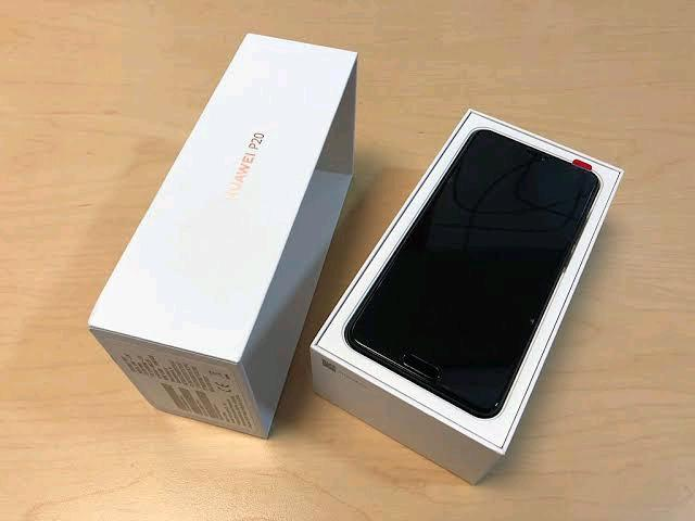 New huawei p20 blue with box for sale
