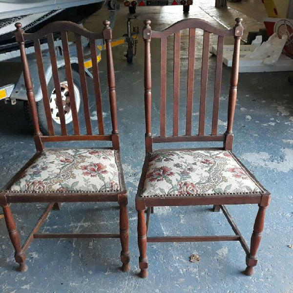 Antique spindle back chairs - 2 available