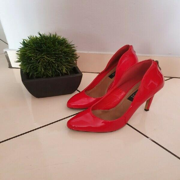 Beautiful red truworths shoe with back zip, size 5