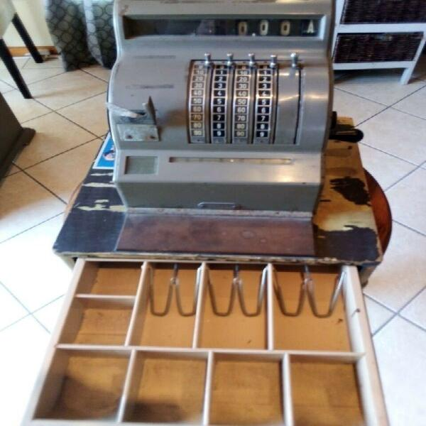 Vintage cash register.