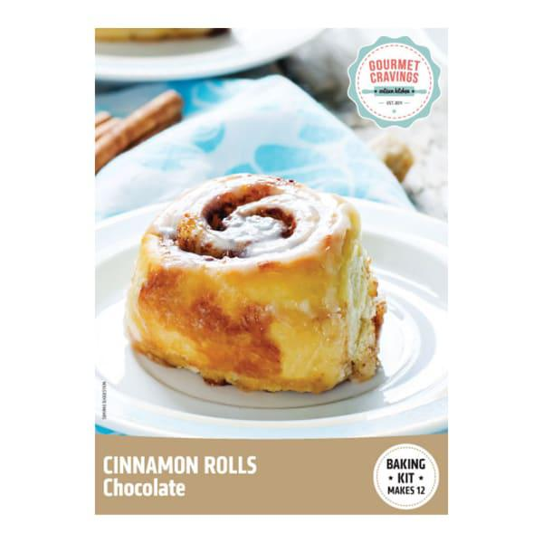 Gourmet Cravings Chocolate Cinnamon Rolls Baking Kit