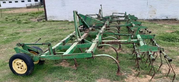 Opvoubare fieldspan met harkies 25 tand 7.1 meter lank.