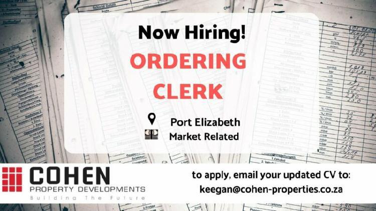 Ordering clerk