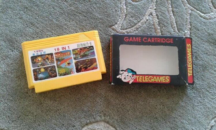 Boxed 18 in 1 famiclone game cartridge for sale
