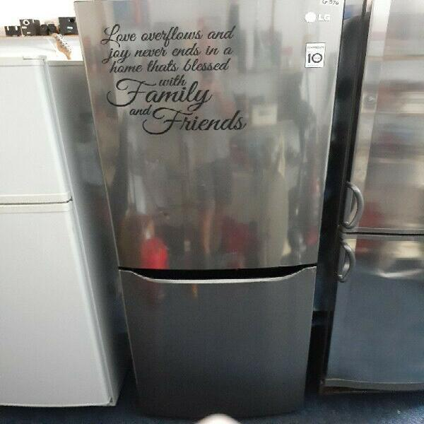 Lg fridge/freezer.good condition.one year warranty.r4500