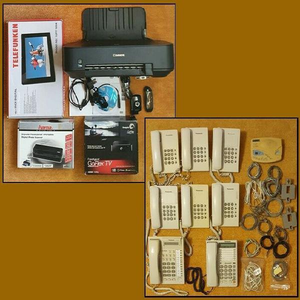 Lot electronic items and lot panasonic phones