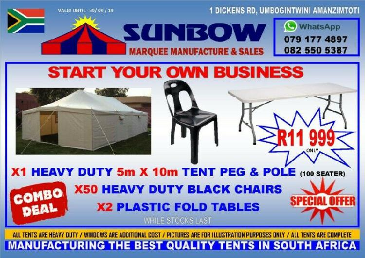 100 seater tent combo for sale, start your own business