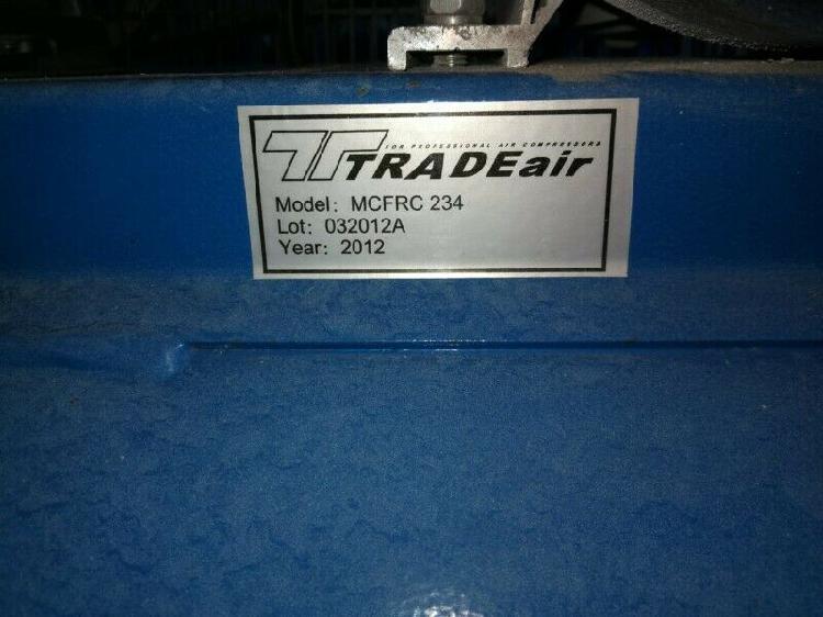 Compressor, trad air 200l 3hp belt drice 8 bar as new with