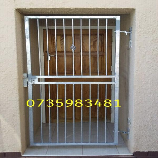 Galvanized security gates made on order
