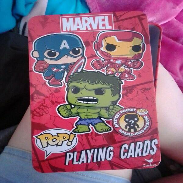 Marvel Playing Card Set + funko