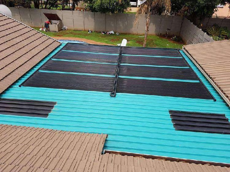 Rubber epdm pool heating systems and pool renovations