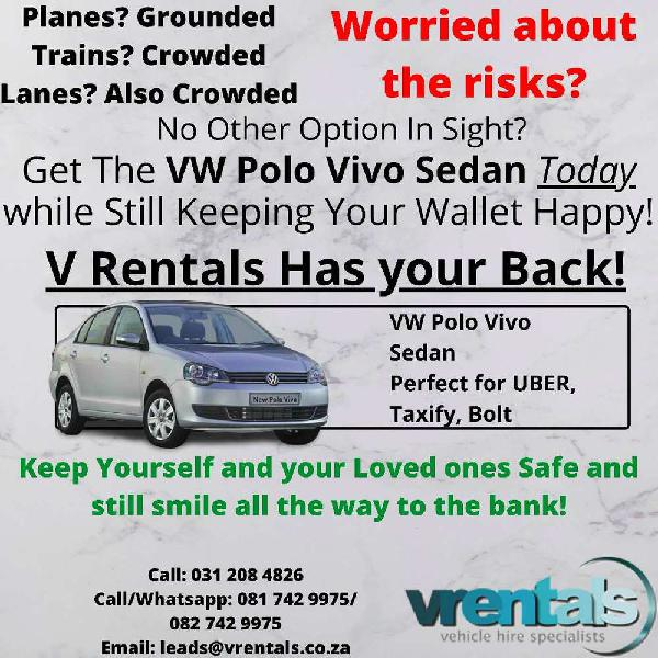 Vw polo vivo sedan available on rent to own